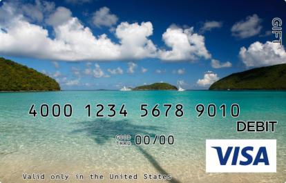 Secret Island Visa Gift Card