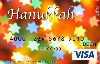 Hanukkah Star Lights Visa Gift Card