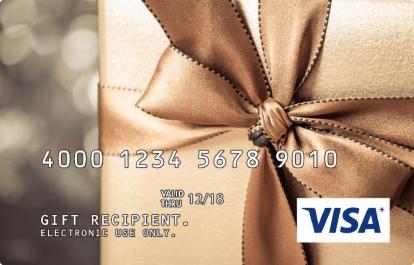 Gold Box Incentive Visa Prepaid Card