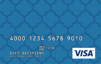 Blue Pattern Design Visa Prepaid Card