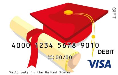 Graduation Cap Visa Gift Card