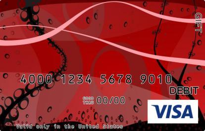 Red Underwater Visa Gift Card