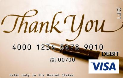 Penned Thank You Visa Gift Card