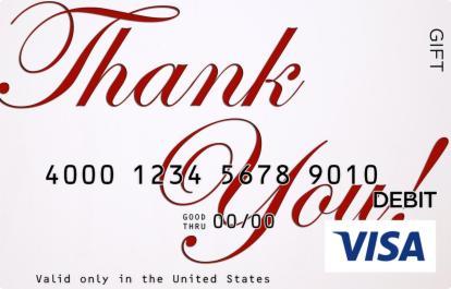 Thank You Script Visa Gift Card