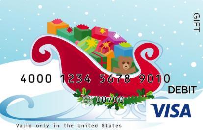 Sleigh of Presents Visa Gift Card