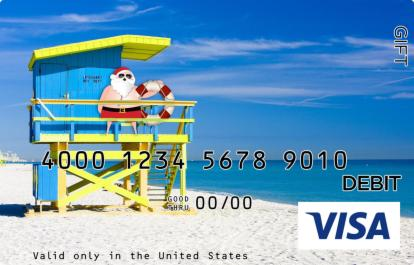 Santa in Panama City Beach Visa Gift Card