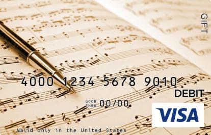 Musical Notes Visa Gift Card