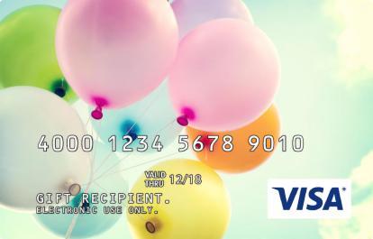 Balloons Incentive Visa Prepaid Card