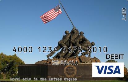 American Flag Memorial Visa Gift Card