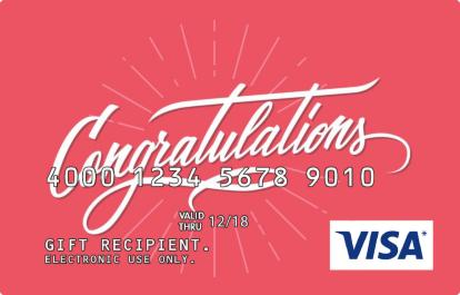 Visa Gift Card - Congratulations Design