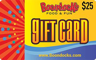 Boondocks Fun Center $25 eGift