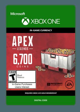 XBOX Apex Legends 6700 Coins $59.99 eGift