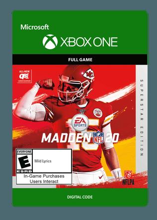 Xbox Madden 20 Superstar Ed $79.99 eGift