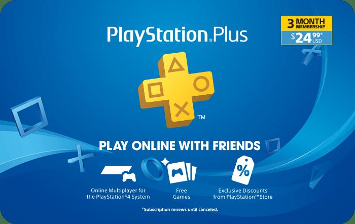PlayStation Plus 3 Month Membership eGift Card