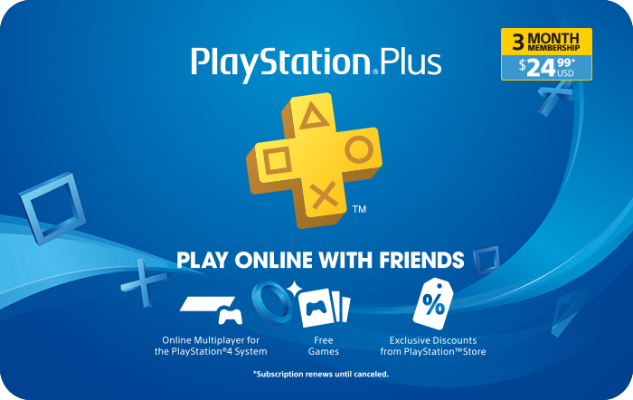 SONY 3 Month Subscription $24.99 eGift card