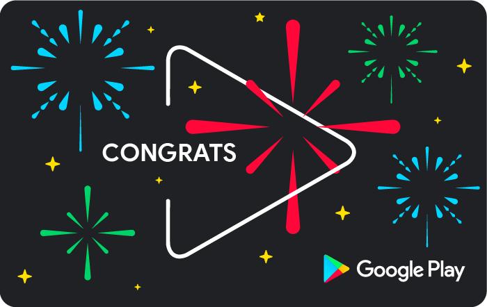 Google Play Store Congrats eGift Card