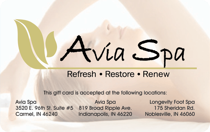 Avia Spa Gift Card