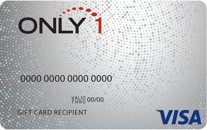 Only 1 VISA Gift Card