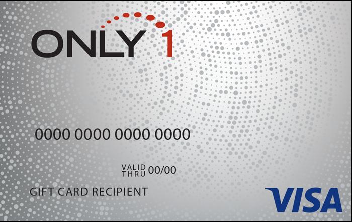 Only 1 VISA Gift Card