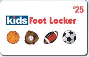 Kids Foot Locker $25 eGift