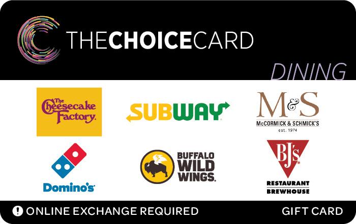 TheChoiceCard Dining eGift