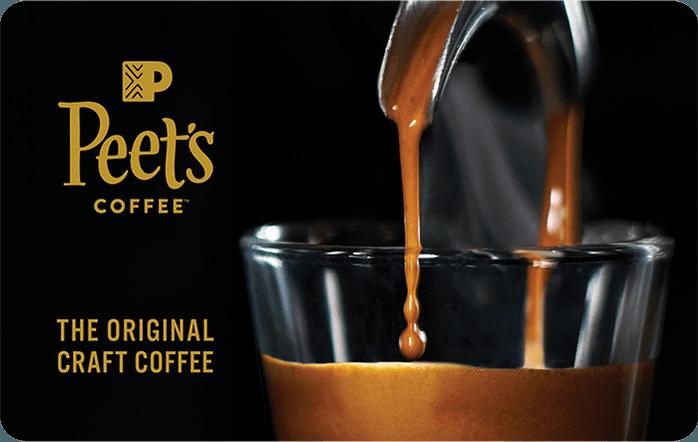 Peets Coffee Gift Card
