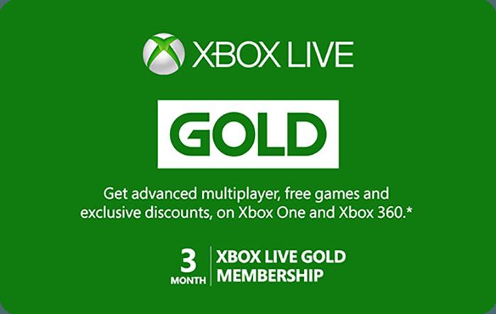 Xbox 3 Month Subscription eGift Card