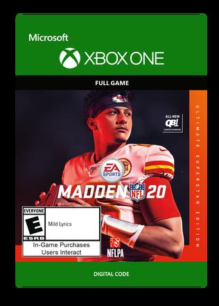 Xbox Madden 20 Ult Ed $99.99 eGift