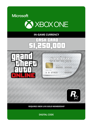 Grand Theft Auto V Great White Shark Card Digital Download