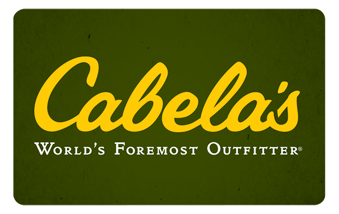 Promotion of Cabela's® eGift Cards