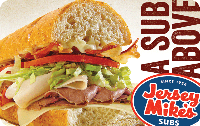Jersey Mikes eGift Cards