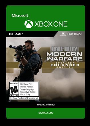 XBOX Modern Warfare Operator Enchanced Edition $99.99