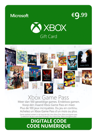 Microsoft Xbox Game Pass eGift