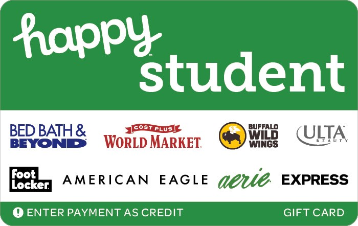 Promotion of Happy Student Gift Card