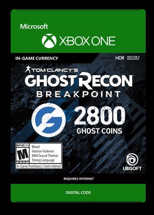 XBOX Ghost Recon 2400VC $19.99 eGift