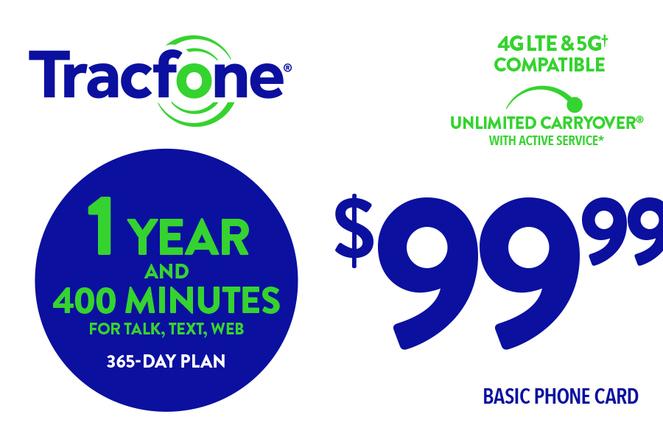 TRACFONE $99.99 Prepaid Phone Card (e-delivery)