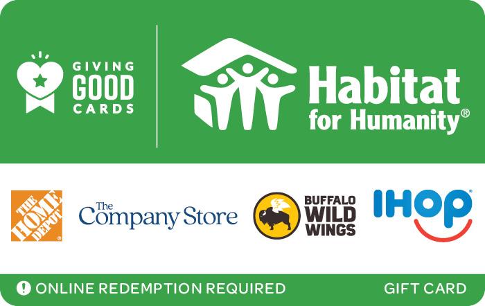 Giving Good Habitat for Humanity Swap eGift Card