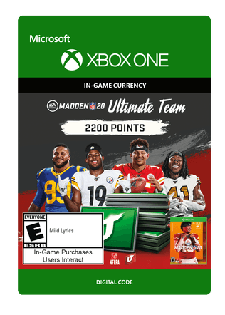 Xbox Madden NFL 20 2200 VC $19.99 eGift