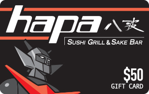 Hapa Sushi Grill and Sake Bar $50 eGift