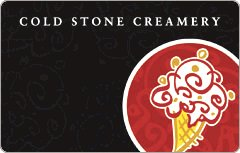 Cold Stone Peanut Buttercup Gift Card