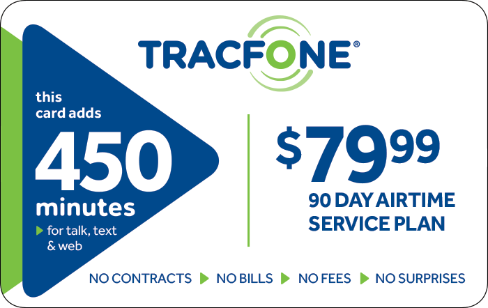 Promotion of $79.99 TRACFONE Prepaid Phone Cards (e-delivery)