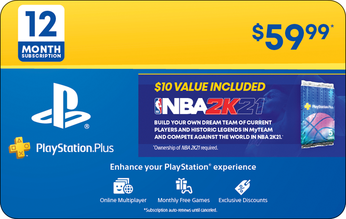 SONY 12M PS+ & NBA 2K21 BONUS (Promotion)