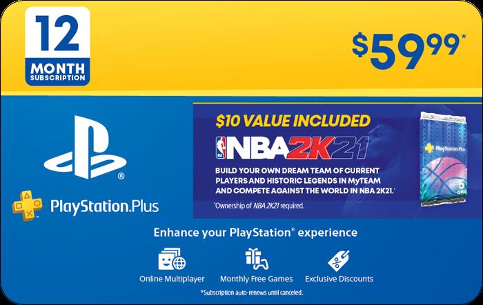 SONY 12M PS+ & NBA 2K21 BONUS Promotion