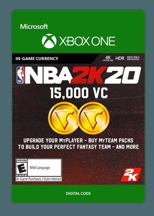 Xbox NBA 2K20 15000VC $4.99 eGift