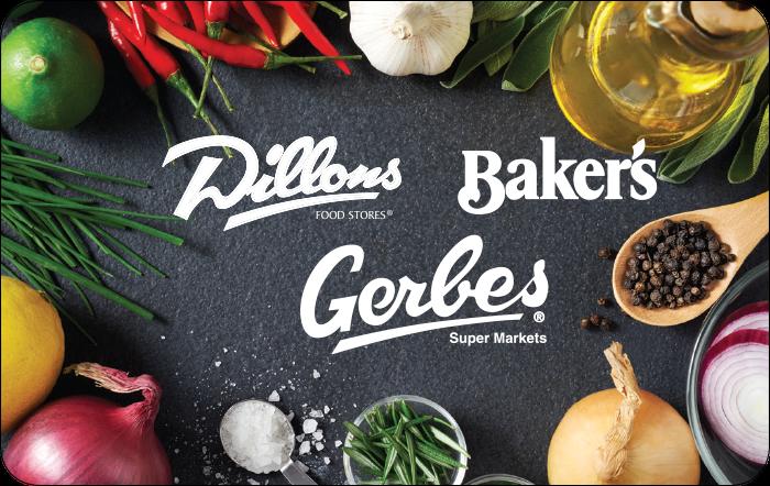 Kroger Dillons Baker Gerbes Gift Card