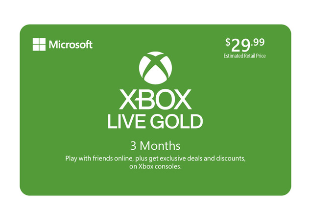 Microsoft Xbox 3 Month Subscription eGift Card