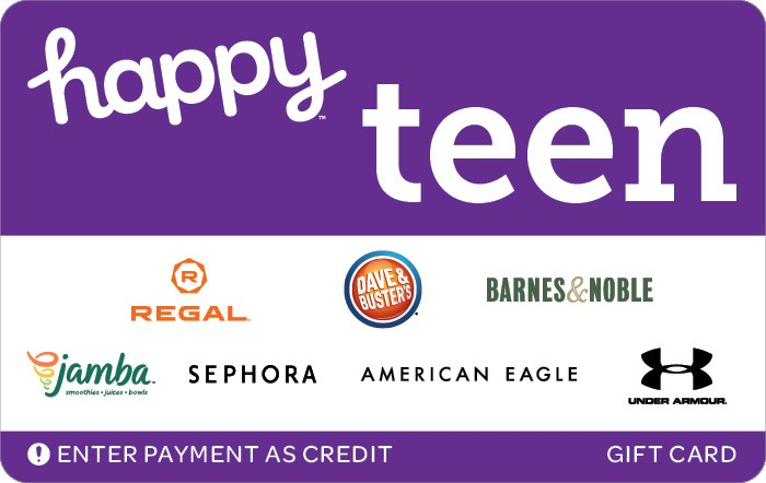 Promotion of Happy Teen Gift Card