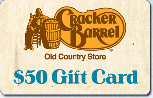 Cracker Barrel $50 eGift
