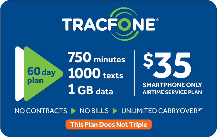 Promotion of $35 TRACFONE Prepaid Phone Cards (e-delivery)