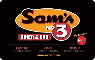 Sams No 3 Diner and Bar eGift Card